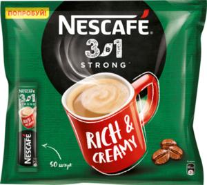 Кофе 3в1 крепкий 50*14,5г ТМ Nescafe (Нескафе)