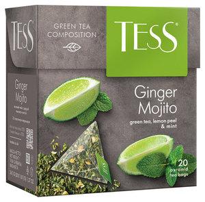 Чай зеленый Ginger Mojito (Джинджер Мохито) в пирамидках 20*1,8г ТМ Tess (Тесс)