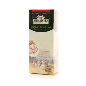 Чай чёрный English Breakfast (Инглиш Бэкфаст) 25*2г ТМ Ahmad Tea (Ахмад Ти)
