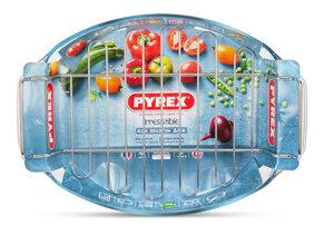 Блюдо овальное с решеткой Pyrex Irresistible 39х27 см, 4,0 л