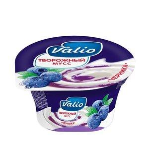 Мусс творожный 4% черника ТМ Valio (Валио)