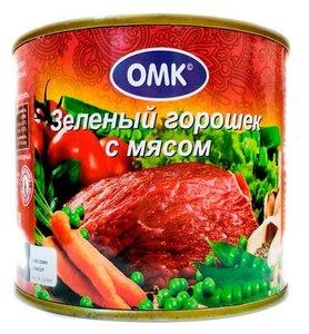 Горошек зеленый с мясом ТМ ОМК