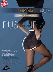 Колготки женские Push-up (Пуш-ап) чёрные размер 4 40 den ТМ Omsa (Омса)