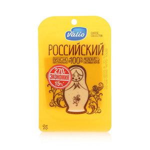 Сыр Российский 50% в нарезке ТМ Valio (Валио)