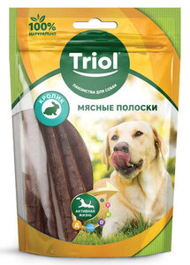 Лакомство для собак мясные полоски из кролика ТМ Triol (Триол)