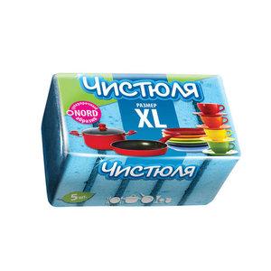 Губки XL с абразивом для посуды ТМ Чистюля, 5 шт