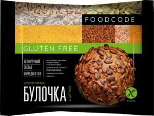 Булочка кукурузная (4 штуки) без глютена ТМ Foodcode (Фудкод)