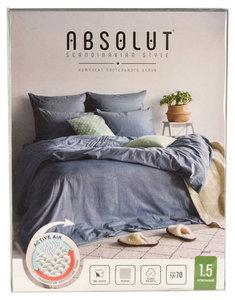 Постельное белье комплект 1,5-спальный Indigo (Индиго) хлопок ТМ Absolut (Абсолют)