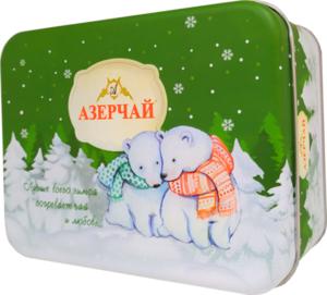 Чай зеленый НОВЫЙ ГОД Медвежонок с ароматом мяты ТМ АЗЕРЧАЙ