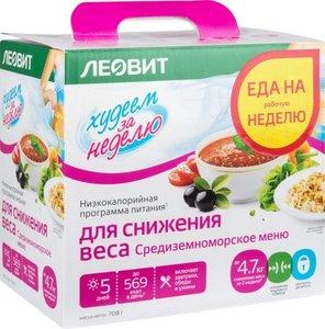 Низкокалорийная программа питания для снижения веса Средиземноморское меню ТМ Худеем за неделю