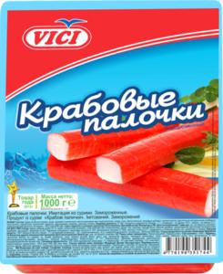 Крабовые палочки замороженные ТМ Vici (Вичи)
