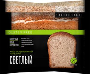 Хлеб формованный светлый без глютена ТМ Foodcode (Фудкод)