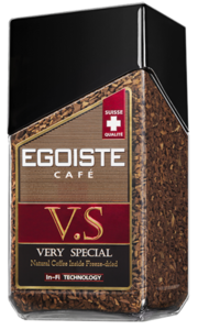 Кофе молотый в растворимом арабика ТМ Еgoiste V.S. (Эгоист)