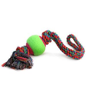 Игрушка для собак Верёвка с петлёй 2 узла и мяч ТМ Triol (Триол)
