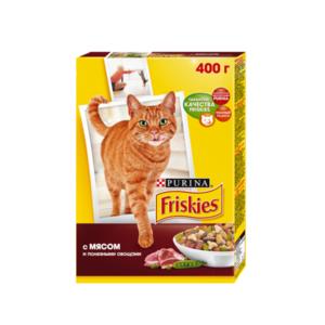 Корм сухой полнорационный для взрослых кошек, с мясом и полезными овощами ТМ Friskies (Фрискис)