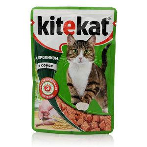 Корм для взрослых кошек с кроликом в соусе ТМ Kitekat (Китекат)