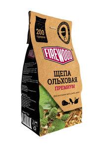 Щепа для копчения ольховая премиум ТМ Firewood (Файервуд)