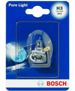 Лампа галогенная Pure Light (Пур Лайт) H3 12V 55W ТМ Bosch (Бош)