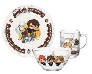 Набор посуды детский Harry Potter (Гарри Поттер): кружка, тарелка и салатник, 3 предмета ТМ PrioritY (Приорити)