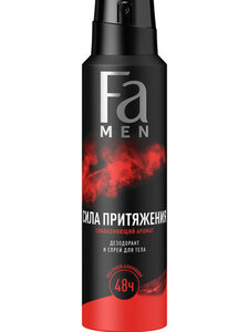 Дезодорант-аэрозоль мужской Сила притяжения соблазняющий аромат ТМ Fa (Фа)