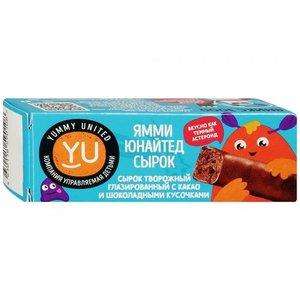 Сырок творожный глазированный Какао-Шоколад 19% ТМ Yummy United (Ямми Юнайтед)