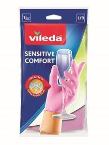 Перчатки Сенситив Комфорт для деликатных работ L ТМ Vileda (Виледа)