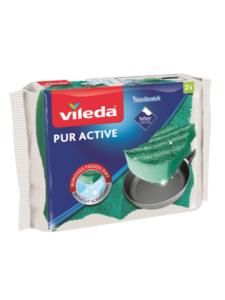 Губка ПУР-Актив для посуды 2 шт ТМ Vileda (Виледа)