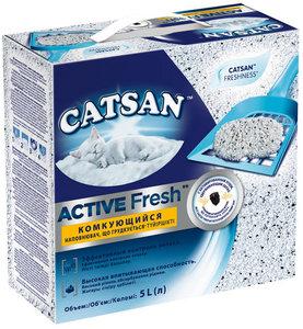 Наполнитель для кошачьего туалета Active Fresh комкующийся ТМ Catsan Litter (Катсан Литтер)