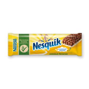 Батончик злаковый с шоколадом, обогащенный витаминами и минеральными веществами ТМ Nesquik (Несквик)