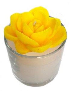 Свеча ароматическая в стакане - цветок
