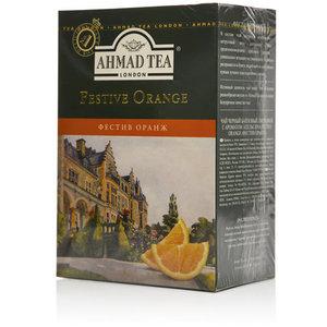 Чай черный байховый листовой с ароматом апельсина Festive Orange (Фестив Орандж) ТМ Ahmad Tea (Ахмад Тиа)
