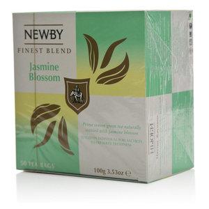 Чай зеленый с ароматом жасмина в пакетиках Jasmine Blossom (Жасмин Блоссом) 50*2г ТМ Newby (Ньюби)