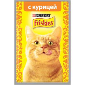 Корм полнорационный для кошек с курицей в подливе ТМ Friskies (Фрискис)
