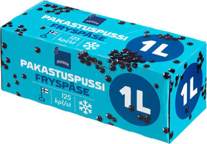 Пакеты для глубокой заморозки продуктов 1л*125 шт, 26*20 см  ТМ Rainbow (Рейнбоу)