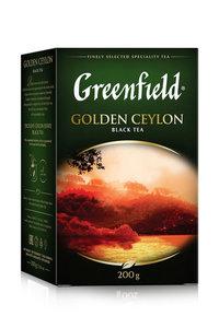 Чай черный Golden Ceylon (Голден Цейлон) листовой ТМ Greenfield (Гринфилд)