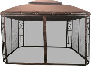Павильон с антимоскитными сетками коричневый ТМ Giordino Club (Гиордино Клуб)