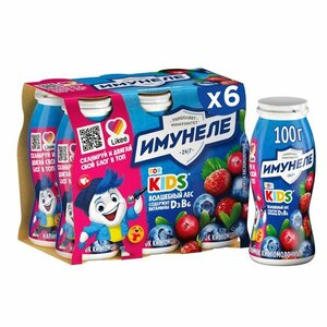 Напиток кисломолочный for Kids (фо Кидс) Волшебный лес 1,5% 100 г*6 шт ТМ Имунеле