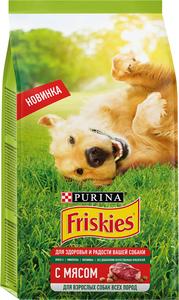 Корм сухой для взрослых собак с мясом для всех пород полнорационный ТМ Friskies (Фрискес)