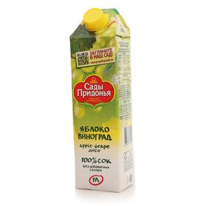 Сок яблочно - виноградный восстановленный ТМ Сады Придонья