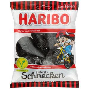 Конфеты жевательные улитки с лакрицей ТМ Haribo (Харибо)