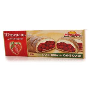 Штрудель для выпекания клубника со сливками замороженный ТМ Морозко