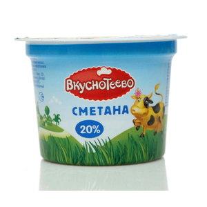 Сметана 20% ТМ Вкуснотеево