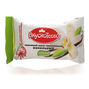 Сырок творожный в шоколаде ванильный 16% ТМ Вкуснотеево