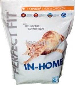 Корм сухой с курицей для взрослых кошек TM Perfect Fit (Перфект фит) in Home