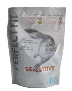 Корм сухой с курицей для взрослых кошек с чувствительным пищеварением TM Perfect Fit (Перфект фит) Sensitive