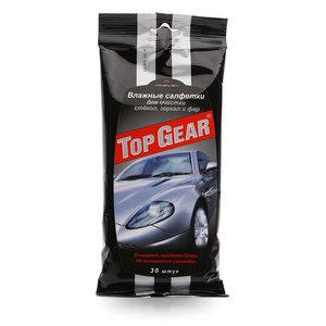 Влажные салфетки для стекол, зеркал и фар а/м ТМ Top Gear (Топ Гир), 30 шт