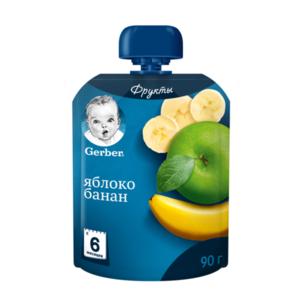 Пюре фруктовое Яблоко и банан ТМ Gerber (Гербер)