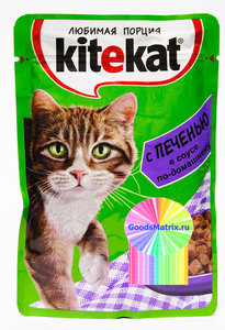 Корм для кошек Kitekat с печенью в соусе ТМ Kitekat (Китекат)