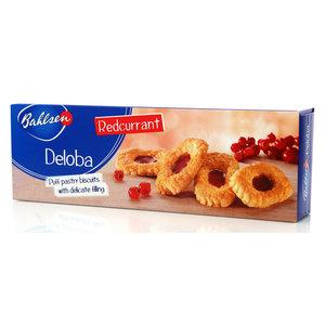 Бисквитные лодочки с красной смородиной Deloba ТМ Bahlsen (Бальзен)
