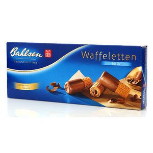 Вафельные трубочки в молочном шоколаде Waffeletten milk (Ваффелетен милк) ТМ Bahlsen (Бальзен)